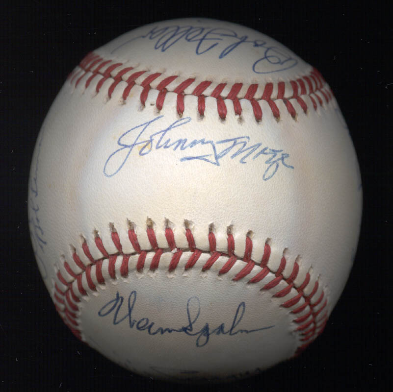 Image 1 for Warren Spahn - Autographed Signed Baseball with co-signers - HFSID 102354