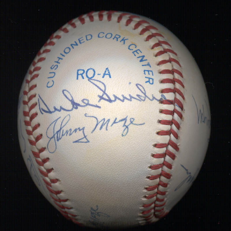 Image 3 for Warren Spahn - Autographed Signed Baseball with co-signers - HFSID 102354
