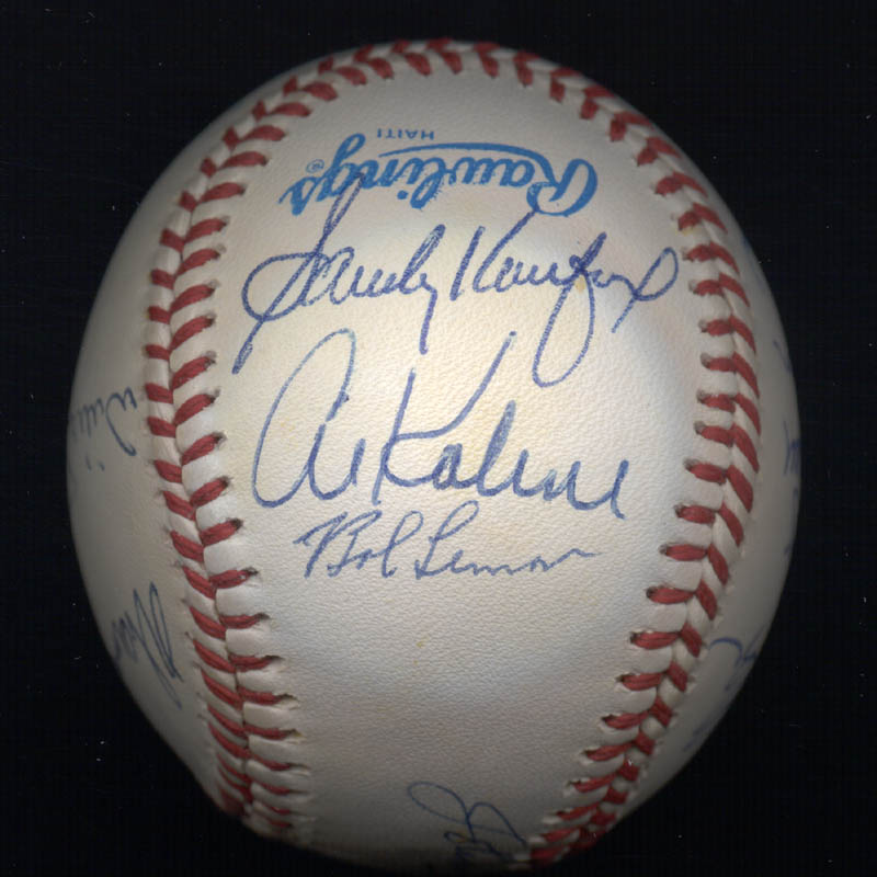 Image 4 for Warren Spahn - Autographed Signed Baseball with co-signers - HFSID 102354