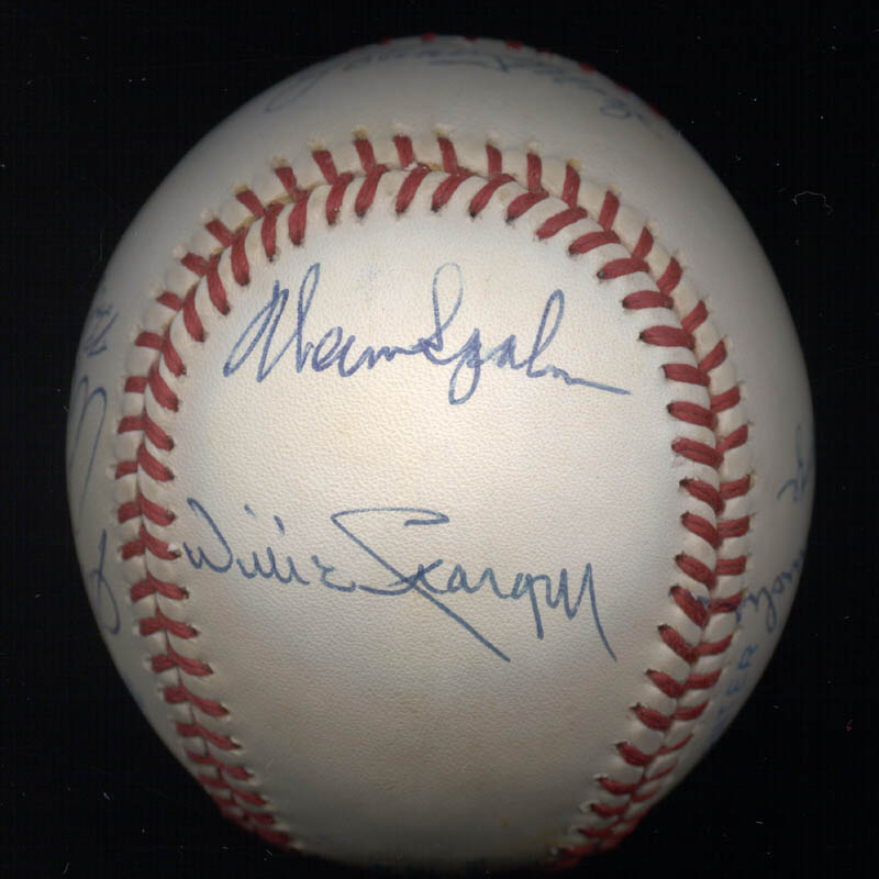 Image 5 for Warren Spahn - Autographed Signed Baseball with co-signers - HFSID 102354