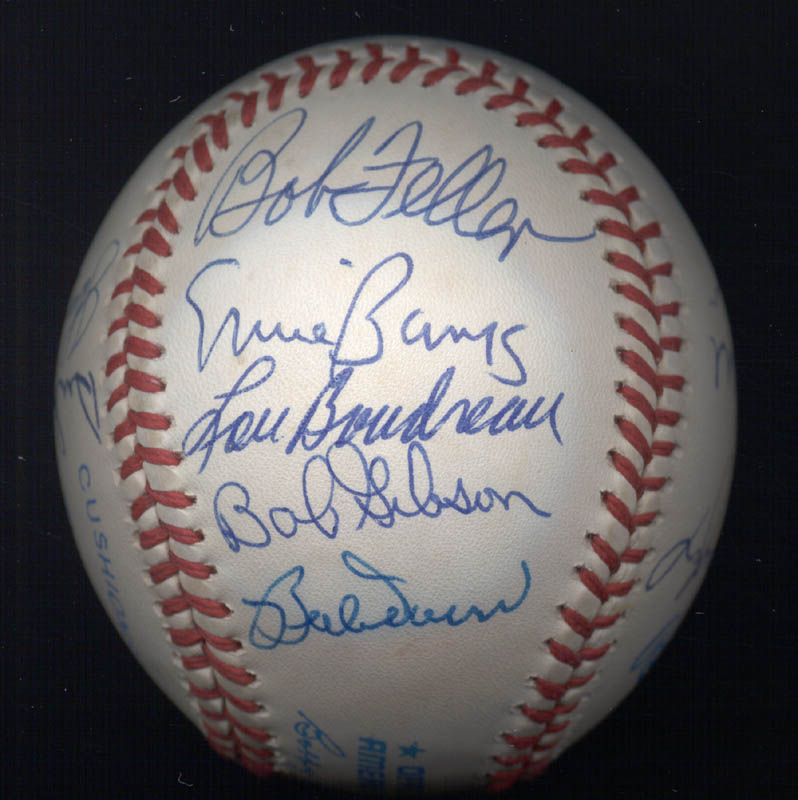 Image 6 for Warren Spahn - Autographed Signed Baseball with co-signers - HFSID 102354
