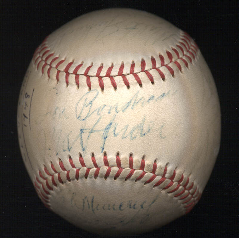 Image 1 for The Cleveland Indians - Autographed Signed Baseball 1948 with co-signers - HFSID 102547