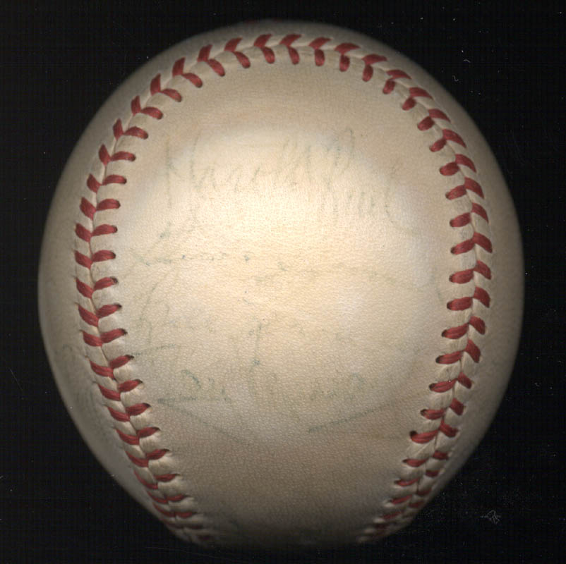 Image 4 for The Cleveland Indians - Autographed Signed Baseball 1948 with co-signers - HFSID 102547