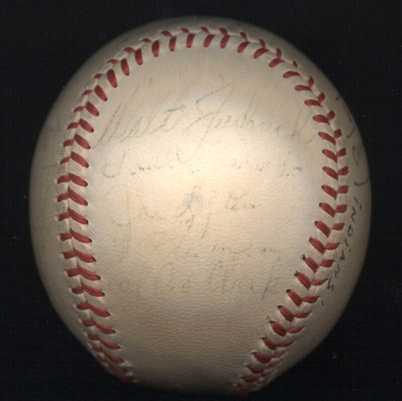 Image 5 for The Cleveland Indians - Autographed Signed Baseball 1948 with co-signers - HFSID 102547