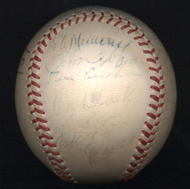 Image 6 for The Cleveland Indians - Autographed Signed Baseball 1948 with co-signers - HFSID 102547