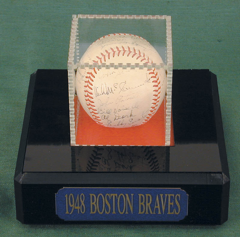 Image 1 for The Boston Braves - Autographed Signed Baseball Circa 1948 with co-signers - HFSID 102548