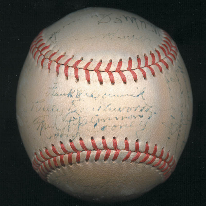 Image 3 for The Boston Braves - Autographed Signed Baseball Circa 1948 with co-signers - HFSID 102548