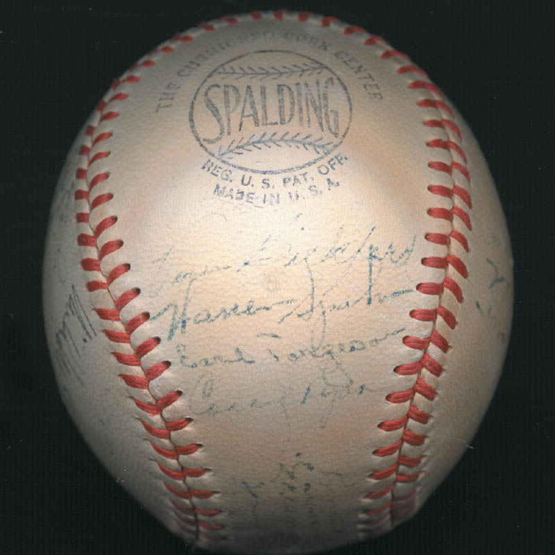 Image 4 for The Boston Braves - Autographed Signed Baseball Circa 1948 with co-signers - HFSID 102548