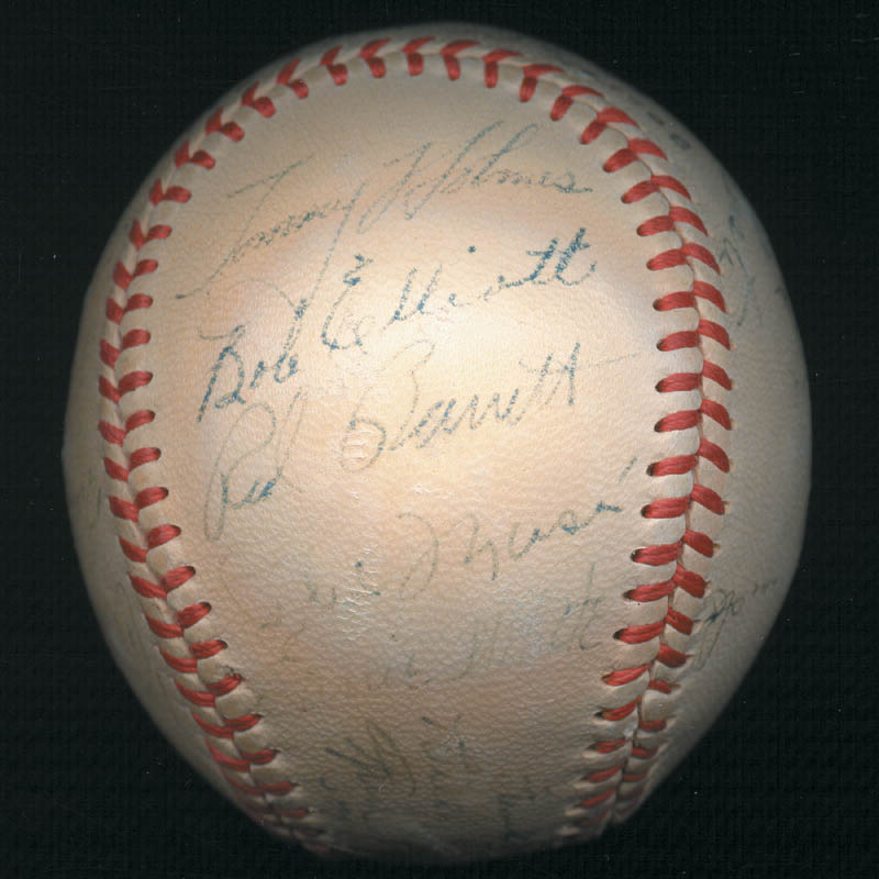 Image 5 for The Boston Braves - Autographed Signed Baseball Circa 1948 with co-signers - HFSID 102548