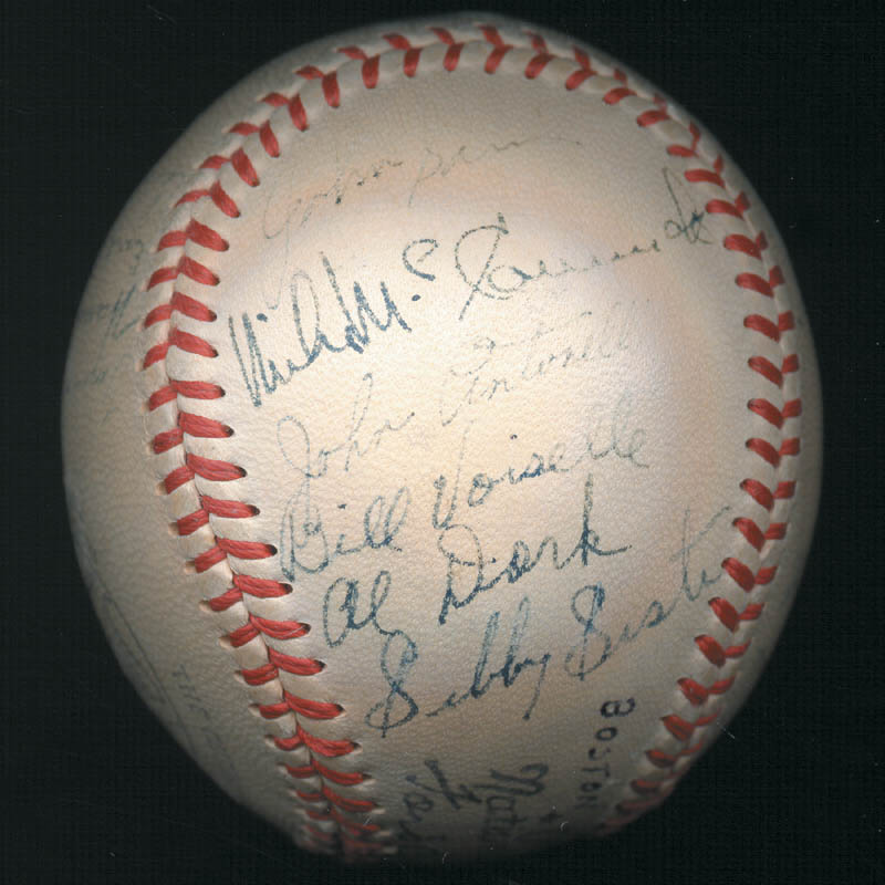 Image 6 for The Boston Braves - Autographed Signed Baseball Circa 1948 with co-signers - HFSID 102548
