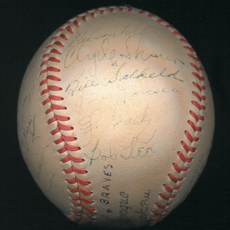 Image 7 for The Boston Braves - Autographed Signed Baseball Circa 1948 with co-signers - HFSID 102548