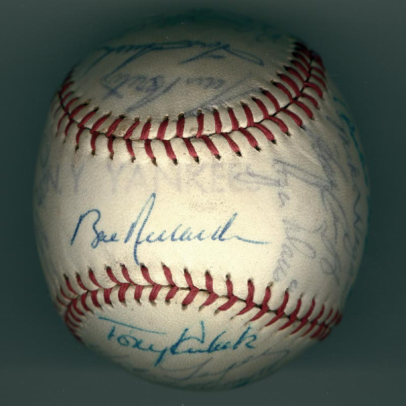 Image 1 for The New York Yankees - Autographed Signed Baseball Circa 1964 with co-signers - HFSID 102550