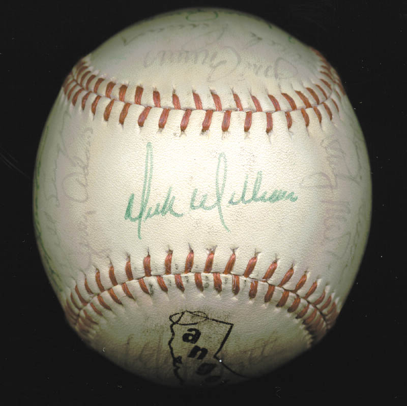 Image 1 for The California Angels - Autographed Signed Baseball Circa 1975 with co-signers - HFSID 102553
