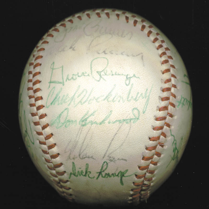 Image 3 for The California Angels - Autographed Signed Baseball Circa 1975 with co-signers - HFSID 102553