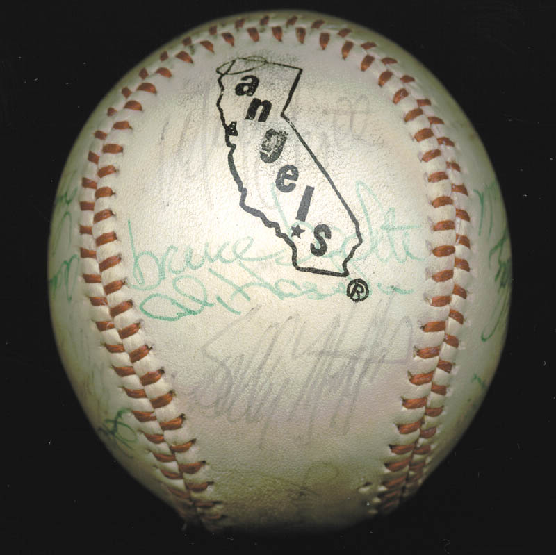 Image 4 for The California Angels - Autographed Signed Baseball Circa 1975 with co-signers - HFSID 102553