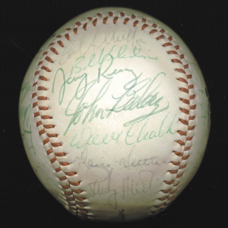 Image 5 for The California Angels - Autographed Signed Baseball Circa 1975 with co-signers - HFSID 102553
