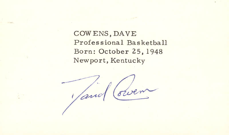 Image 1 for Dave Cowens - Printed Card Signed In Ink - HFSID 1100