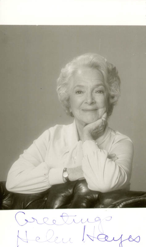 Image 1 for Helen Hayes - Autographed Signed Photograph - HFSID 1117