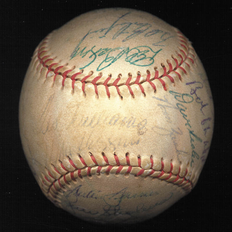 Image 1 for Boston Red Sox - Autographed Signed Baseball Circa 1957 with co-signers - HFSID 112169