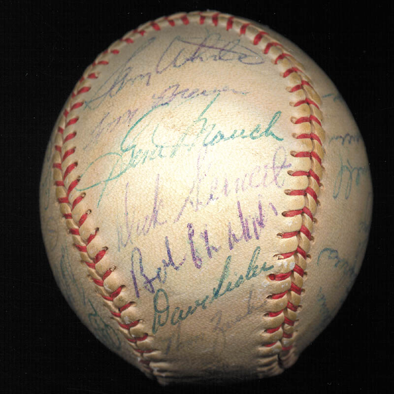 Image 3 for Boston Red Sox - Autographed Signed Baseball Circa 1957 with co-signers - HFSID 112169