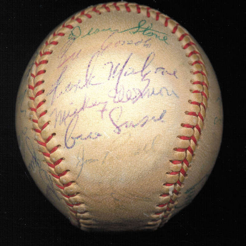 Image 4 for Boston Red Sox - Autographed Signed Baseball Circa 1957 with co-signers - HFSID 112169