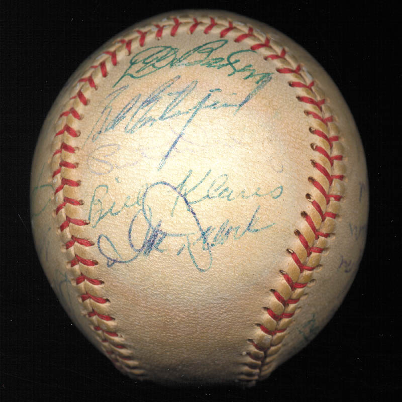Image 5 for Boston Red Sox - Autographed Signed Baseball Circa 1957 with co-signers - HFSID 112169