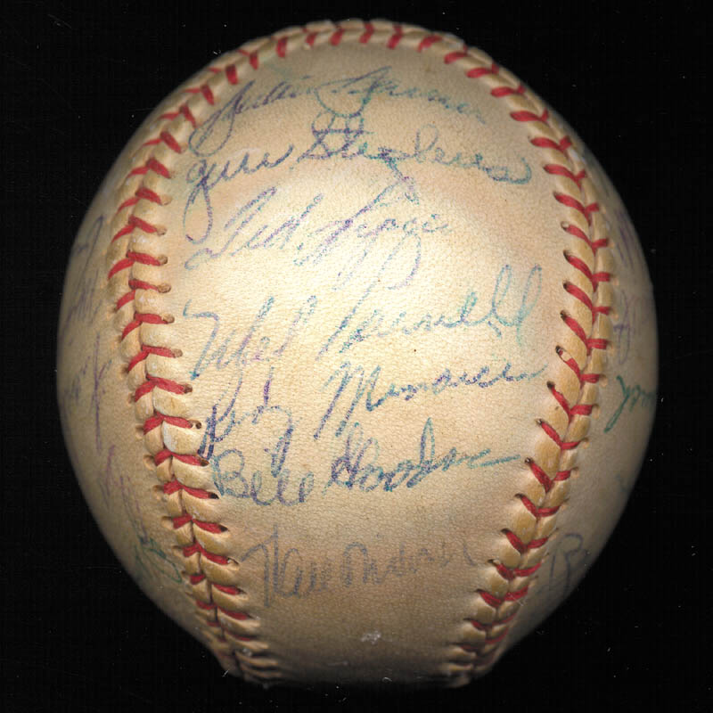 Image 6 for Boston Red Sox - Autographed Signed Baseball Circa 1957 with co-signers - HFSID 112169