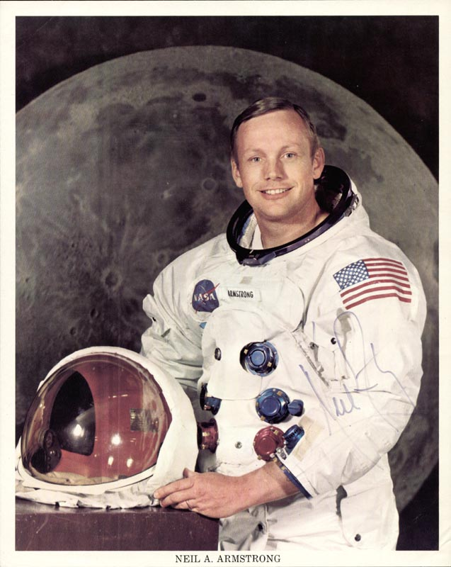 Image 1 for Neil Armstrong - Printed Photograph Signed In Ink - HFSID 112181