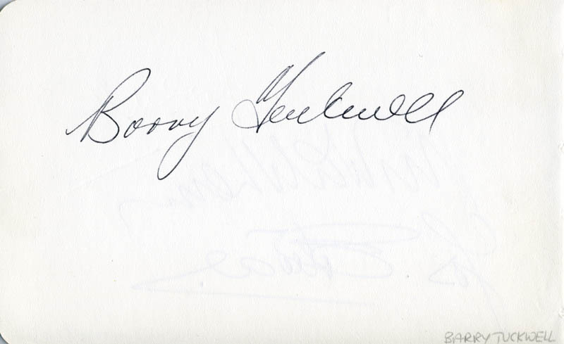 Image 1 for Barry Tuckwell - Autograph - HFSID 112248