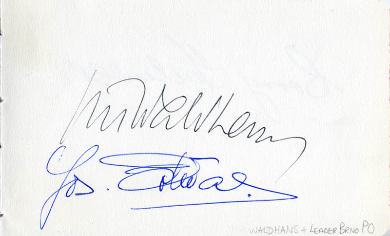 Image 3 for Barry Tuckwell - Autograph - HFSID 112248