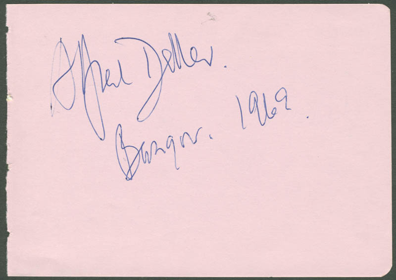 Image 1 for Alfred Deller - Autograph 1969 - HFSID 112301