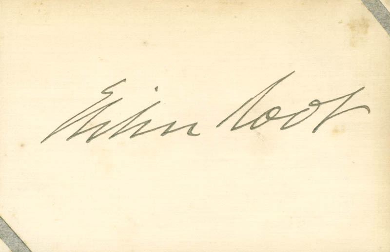 Image 1 for Elihu Root - Autograph - HFSID 112357