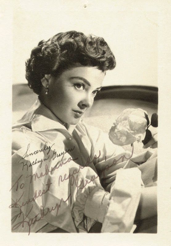 Image 1 for Kathryn Grayson - Autographed Inscribed Photograph - HFSID 112541