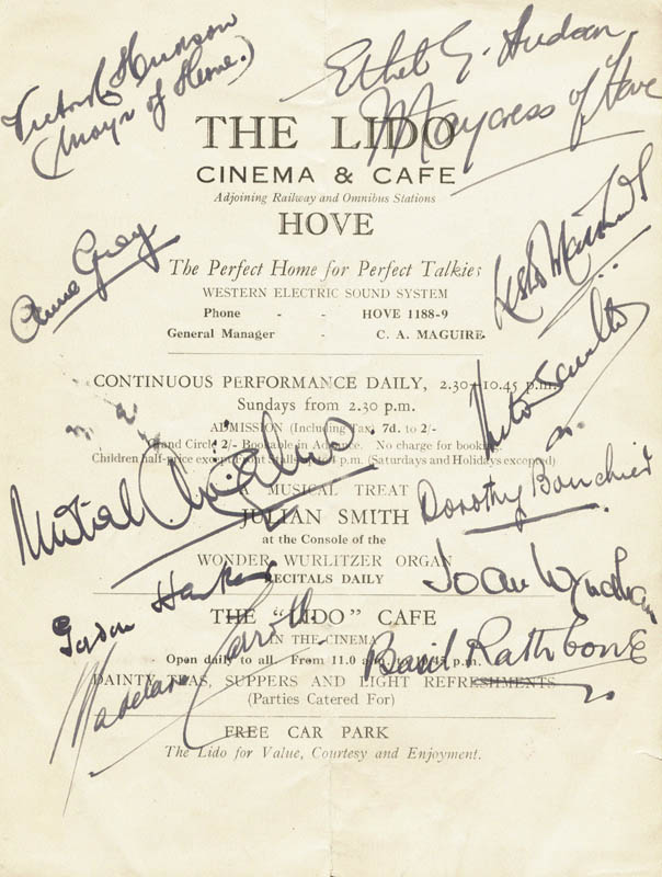 Image 1 for Basil Rathbone - Program Signed Circa 1933 with co-signers - HFSID 112573