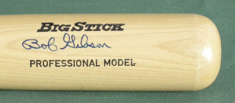 Image 3 for Bob Gibson - Baseball Bat Signed - HFSID 113390