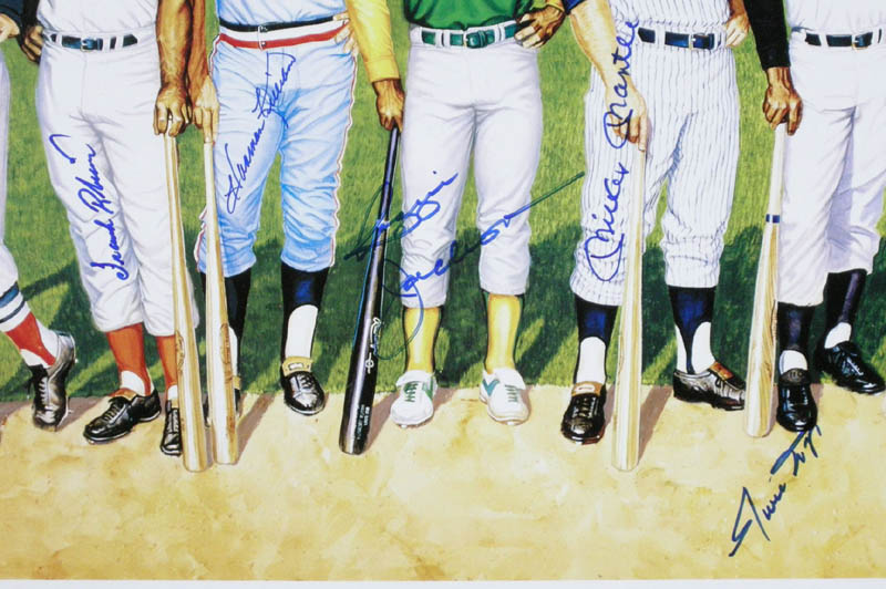 Image 3 for 500 Home Run Hitters - Printed Art Signed In Ink with co-signers - HFSID 113469