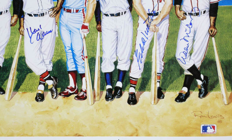 Image 4 for 500 Home Run Hitters - Printed Art Signed In Ink with co-signers - HFSID 113469