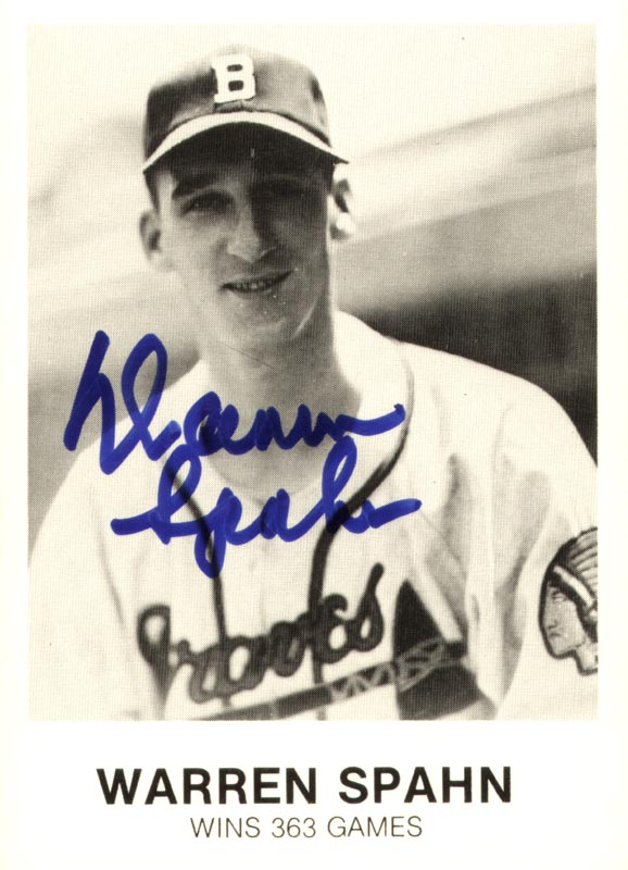 Image 1 for Warren Spahn - Trading/Sports Card Signed - HFSID 113933