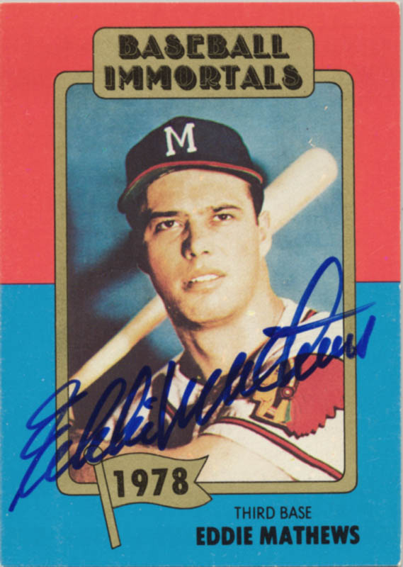 Image 1 for Eddie Mathews - Trading/Sports Card Signed - HFSID 113957