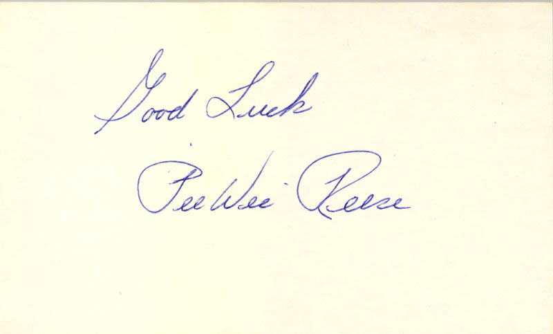 Image 1 for Pee Wee Reese - Autograph - HFSID 114048