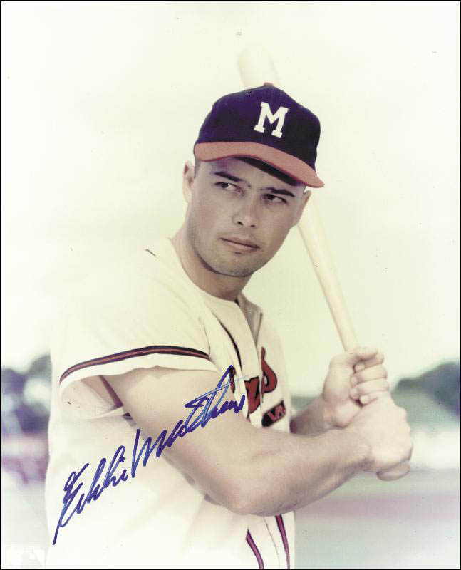 Image 1 for Eddie Mathews - Autographed Signed Photograph - HFSID 114797