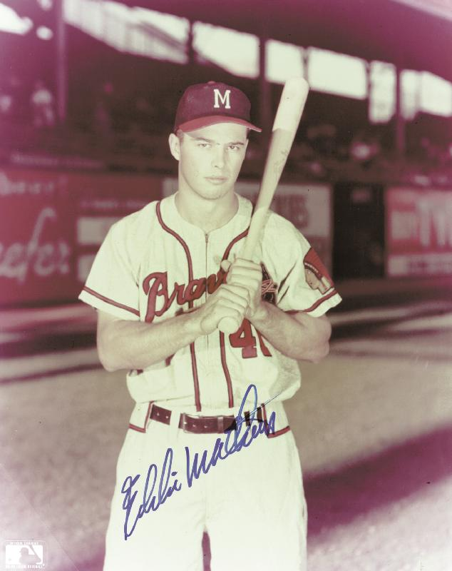 Image 1 for Eddie Mathews - Autographed Signed Photograph - HFSID 114806