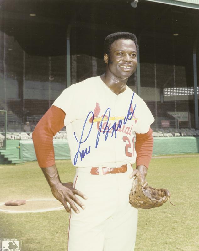 Image 1 for Lou Brock - Autographed Signed Photograph - HFSID 116521