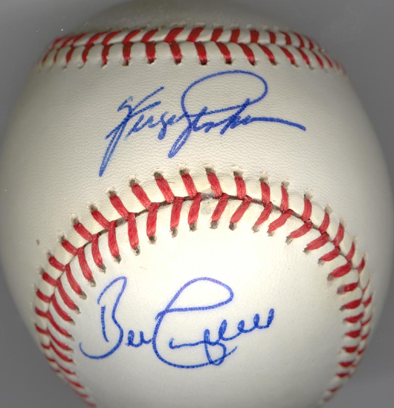 687781f3b10 FERGUSON JENKINS - AUTOGRAPHED SIGNED BASEBALL CO-SIGNED BY  BILL CAMPBELL  - HFSID 117533