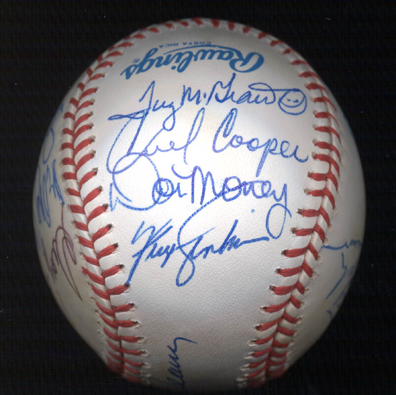 Image 4 for Bobby Bonds - Autographed Signed Baseball with co-signers - HFSID 117537