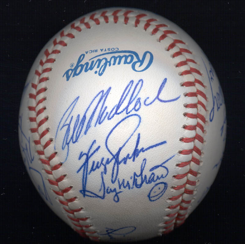 Image 3 for Kent 'Teke' Tekulve - Autographed Signed Baseball with co-signers - HFSID 117541