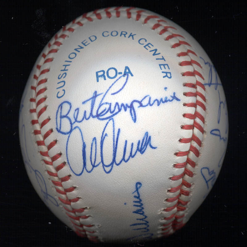 Image 4 for Kent 'Teke' Tekulve - Autographed Signed Baseball with co-signers - HFSID 117541