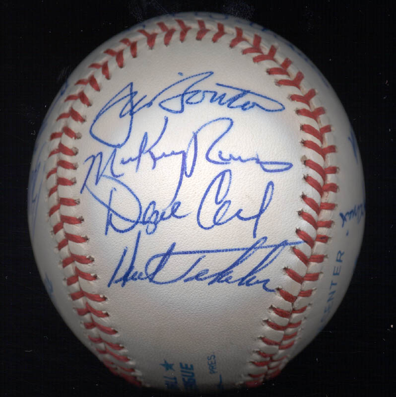 Image 6 for Kent 'Teke' Tekulve - Autographed Signed Baseball with co-signers - HFSID 117541