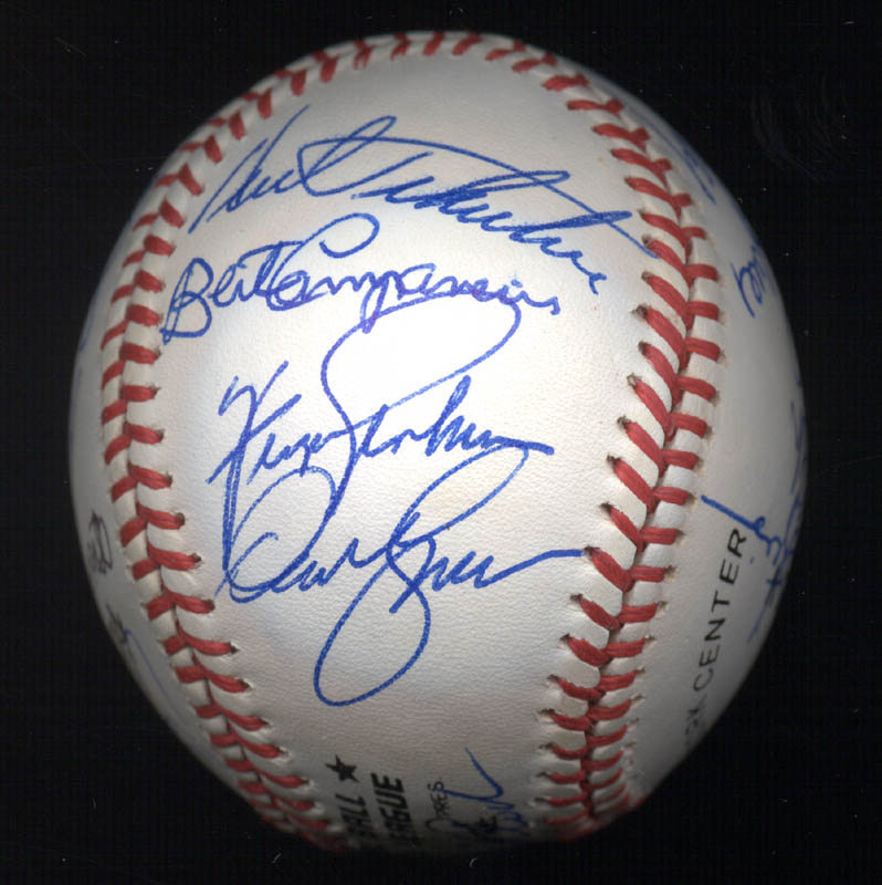 Image 5 for Kent 'Teke' Tekulve - Autographed Signed Baseball with co-signers - HFSID 117548