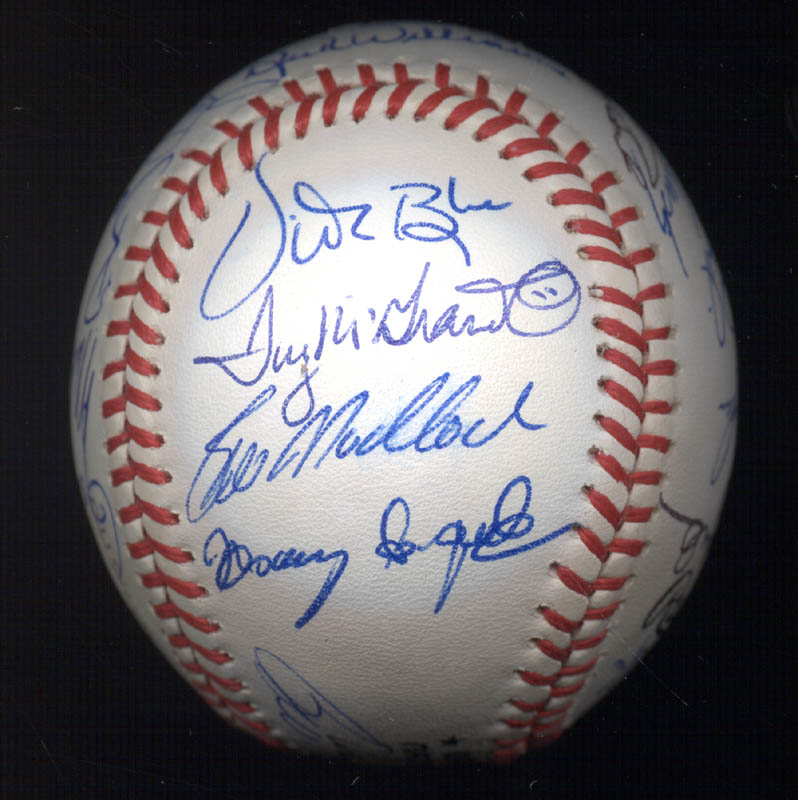 Image 6 for Kent 'Teke' Tekulve - Autographed Signed Baseball with co-signers - HFSID 117548